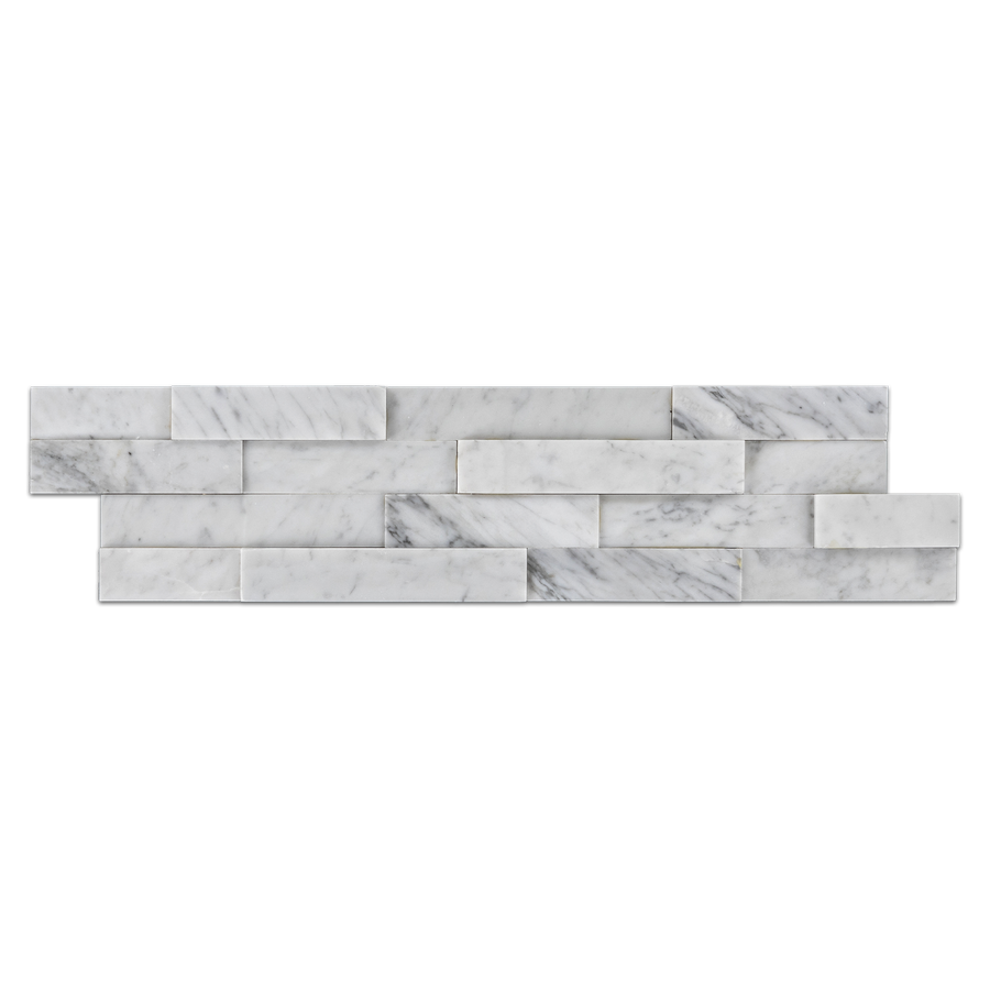"**LIMITED STOCK** Bianco Carrara Ledgerstone 6"" x 24"" Honed (Packed @ 6) - Elon Tile"