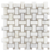 Pearl White Basketweave with 3/8