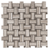 Beachwood Tri-Weave with Driftwood Dot Mosaic Honed (1 sf) - Elon Tile