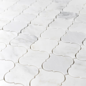 "Pearl White 3"" Lantern Mosaic Polished - Elon Tile"