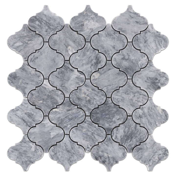 "Pacific Gray 3"" Lantern Mosaic Polished - Elon Tile"