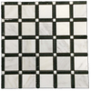 "Petite 2"" SQ Mosaic - Pearl/ Black Bar/ Pearl Polished"