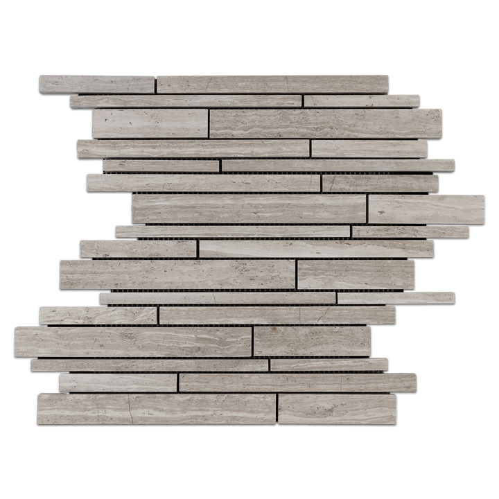 Beachwood Random Strip Mosaic Honed (1 sf) - Elon Tile