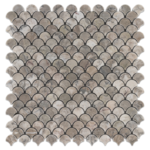 Temple Grey Fan Mosaic Honed (0.97sf) - Elon Tile