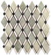 Ming Green Petite Lattice with White Absolute and Black Dot Mosaic Polished (0.78 sf)