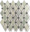 Ming Green Lattice with White Absolute Mosaic Polished (1.01 sf)