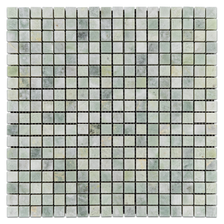 "Ming Green 5/8"" x 5/8"" Mosaic Polished (1 sf) - Elon Tile"