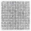 "Bianco Carrara 5/8"" x 5/8"" Mosaic Honed (1 sf) - Elon Tile"