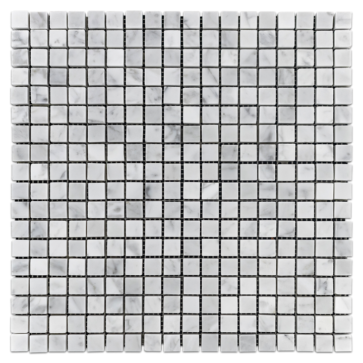 "Bianco Carrara 5/8"" x 5/8"" Mosaic Polished (1 sf) - Elon Tile"