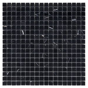 "Black 5/8"" x 5/8"" Mosaic Polished (1 sf) - Elon Tile"