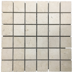 "**LIMITED STOCK** Botticino 2"" x 2"" Mosaic Honed - Elon Tile & Stone"