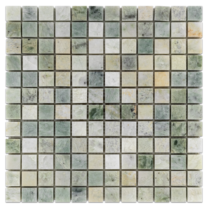 "Ming Green 1"" x 1"" Mosaic Polished (1 sf) - Elon Tile"