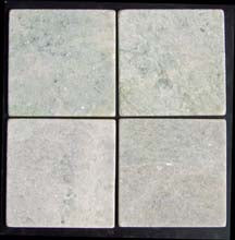"**LIMITED STOCK** Ming Green 6"" x 6"" Tumbled - Elon Tile"