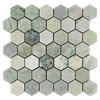 "Ming Green 2"" Hexagon Mosaic Polished (0.97 sf)"