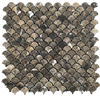 ***DISCONTINUED***Dark Emperador Fan Mosaic - Elon Tile