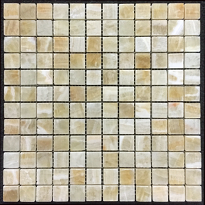 "**LIMITED STOCK** Honey Onyx 1"" x 1"" Mosaic Polished - Elon Tile"