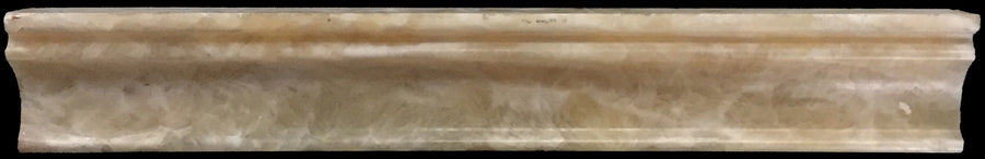 "**LIMITED STOCK** Honey Onyx 2"" x 12"" Capital Molding Honed - Elon Tile"