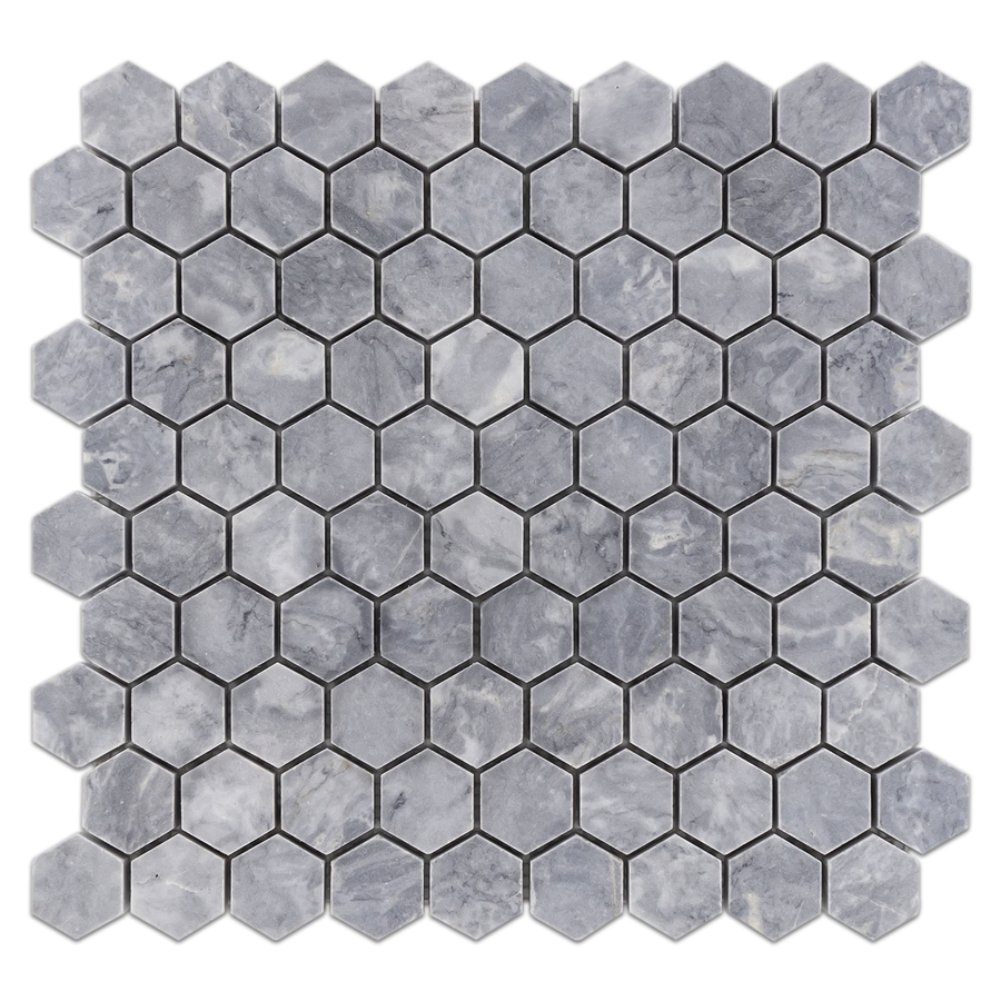 "Pacific Gray 1 1/4"" Hexagon Mosaic Honed - Elon Tile"