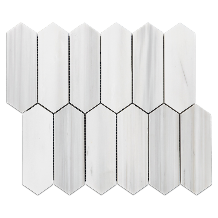 "Dolomite 2"" x 6"" Picket Mosaic Honed"