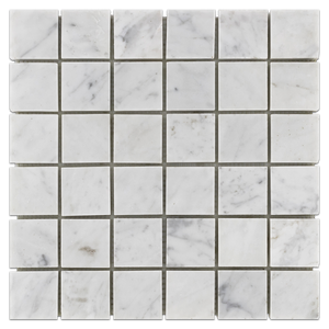 "Bianco Carrara 2"" x 2"" Mosaic Honed - Elon Tile"