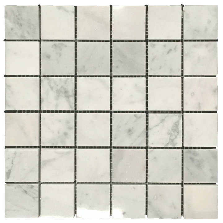 "Bianco Carrara 2"" x 2"" Mosaic Polished (1 sf) - Elon Tile"