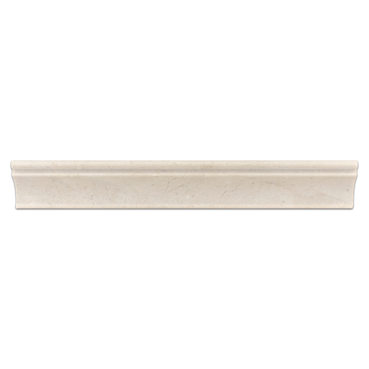 "Crema Marfil 2"" x 12"" Capital Molding Honed - Elon Tile"