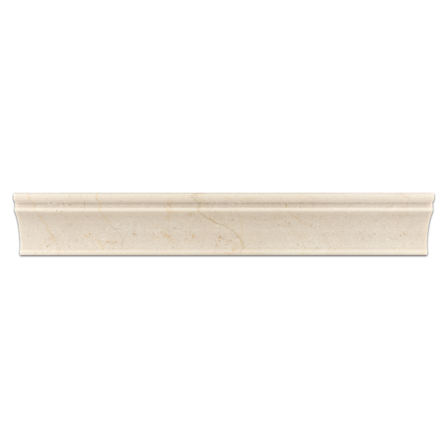 "Crema Marfil 2"" x 12"" Capital Molding Polished - Elon Tile"