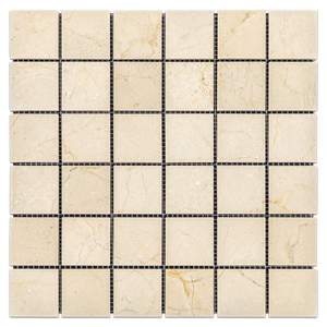 "Crema Marfil 2"" x 2"" Mosaic Polished (1.00 sf) - Elon Tile"