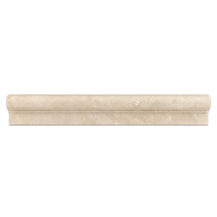 "**DISCONTINUED** Crema Marfil 2"" x 12"" Ogee Molding Polished - Elon Tile & Stone"