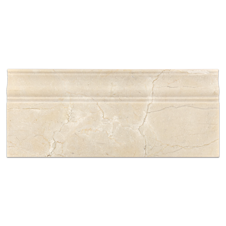 "Crema Marfil 4 3/4"" x 12"" Base Molding Honed - Elon Tile"