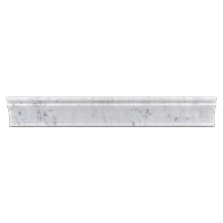 "Bianco Carrara 2"" x 12"" Capital Molding Polished - Elon Tile"