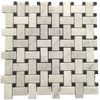 Bianco Carrara Basketweave with 3/8