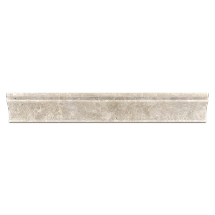 "**LIMITED STOCK** Botticino 2"" x 12"" Capital Molding Honed - Elon Tile"