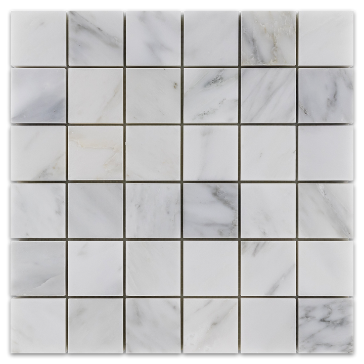 "Pearl White 2"" x 2"" Mosaic Honed - Elon Tile"