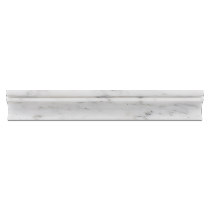 "Pearl White 2"" x 12"" Capital Molding Polished - Elon Tile"