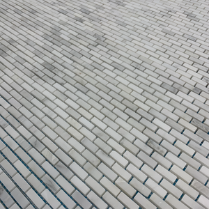 Pearl White Micro Brick Mosaic Honed - Elon Tile