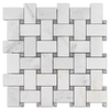 "Extra Large Basketweave (3 3/16"" x 1 7/8"") w/ 5/8"" Pacific Gray Dot Honed"