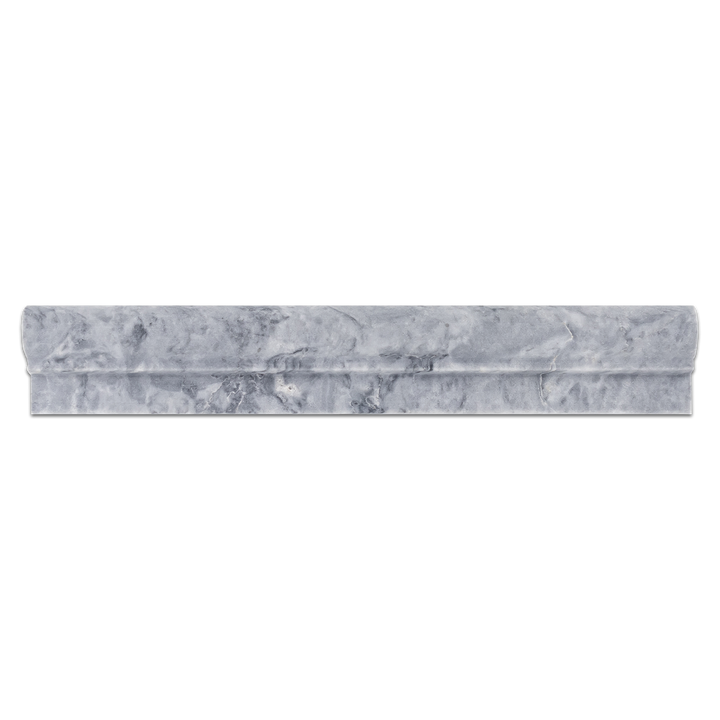 "Pacific Gray 2"" x 12"" Ogee Molding Honed - Elon Tile"
