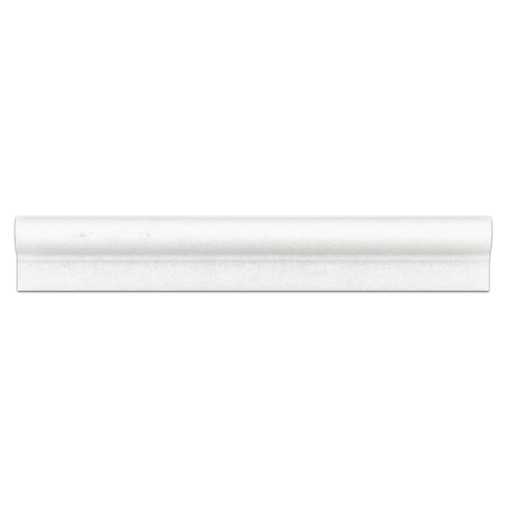 "White Thassos 2"" x 12"" Ogee Molding Honed"