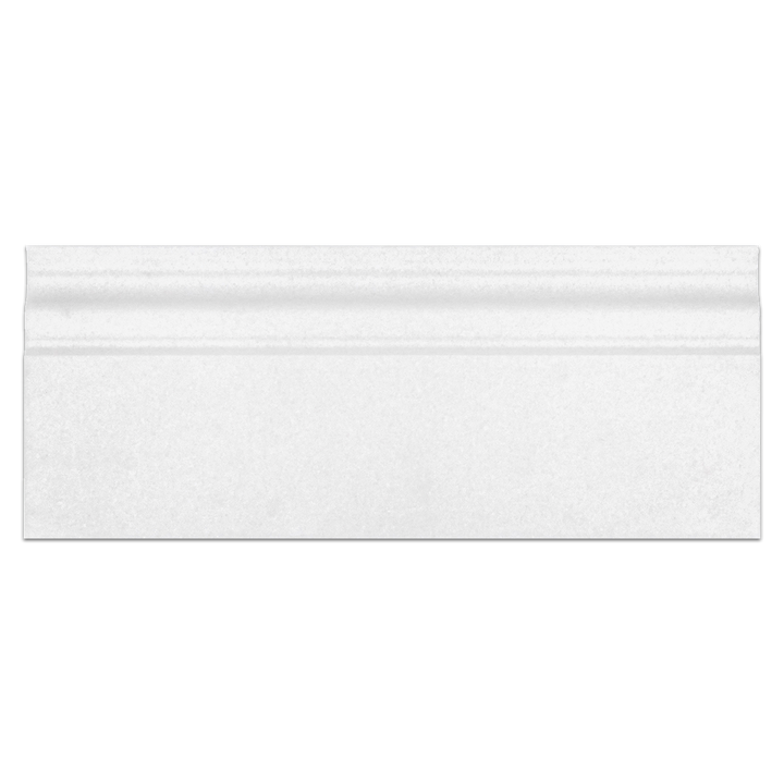 "White Thassos 5"" x 12"" x 3/4 Base Molding Honed"