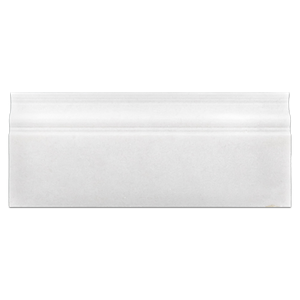 "White Thassos Extra 5"" x 12"" x 3/4"" Base Molding Polished - Elon Tile"