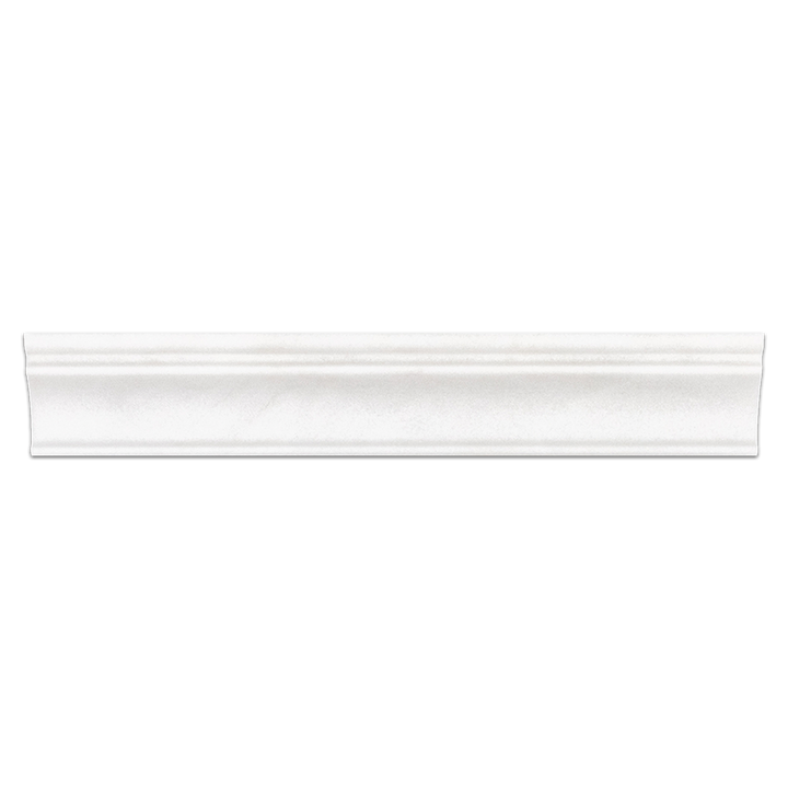 "White Thassos 2"" x 12"" Capital Molding Honed"