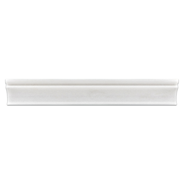 "White Thassos 2"" x 12"" Capital Molding Polished - Elon Tile"