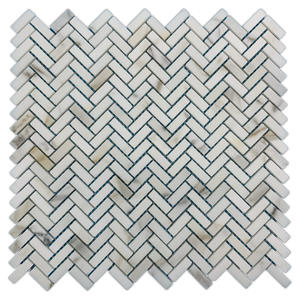 Micro Herringbone Calacatta Honed - Elon Tile