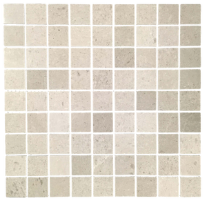 "Sand Dollar 1 1/4"" x 1 1/4"" Mosaic Honed (1 sf) - Elon Tile"
