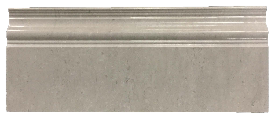 "**LIMITED STOCK** Sand Dollar 4 15/16"" x 12"" Base Molding Polished - Elon Tile"