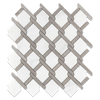 Pearl White with Sand Dollar Bar Argyle Mosaic Polished (0.92)