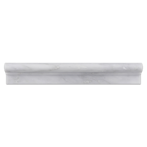 "Mystic Gray 2"" x 12"" Ogee Molding Honed - Elon Tile"