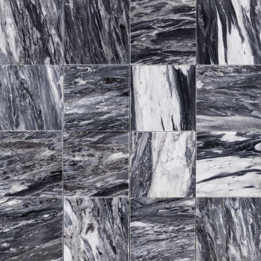 "Bardiglio Nuvolato 4"" x 4"" Polished (Packed @ 50) - Elon Tile"