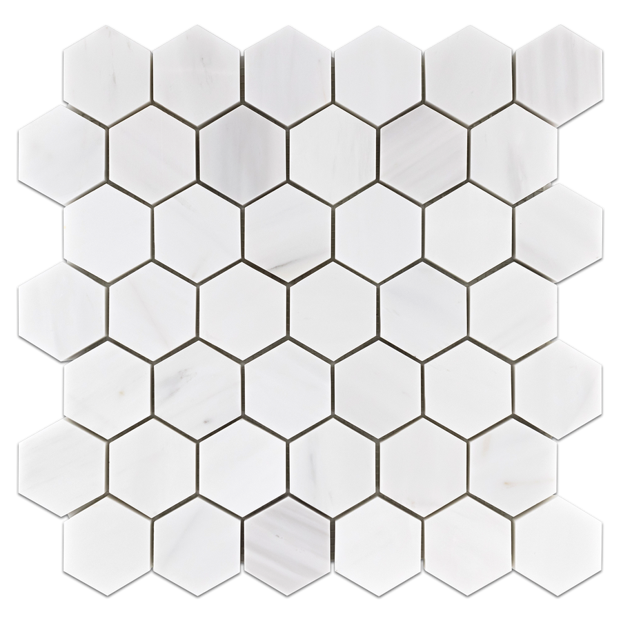 "Dolomite 2"" Hexagon Mosaic Honed (0.97 sf) - Elon Tile"